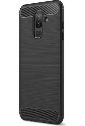 Happyshop Samsung Galaxy J8 Kılıf Ultra Korumalı Room Silikon + Cam Ekran Koruyucu