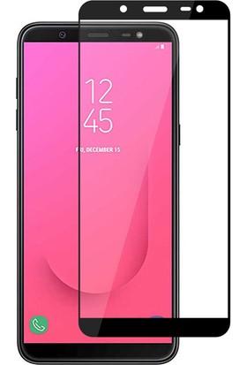 Happyshop Samsung Galaxy J8 Full Yapışan Nano Cam Ekran Koruyucu Siyah