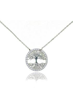 GriGümüş Hayat Ağacı Gümüş Kolye