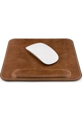 Otto Mousepad - Hakiki Deri Mouse Pad - Bilek Destekli - Rahatlatıcı Süngerli