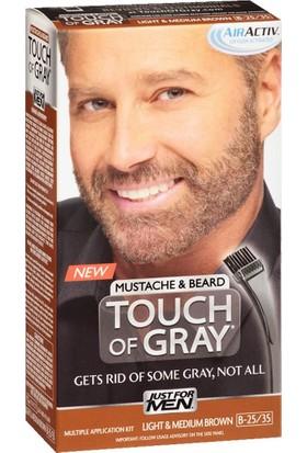 Just For Men Touch Of Gray Sakal ve Bıyık Boyası B25/35-Açık / Orta Kahve
