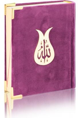 Furkan Neşriyat Çanta Boy Kadife Kur'an-ı Kerim - Mor