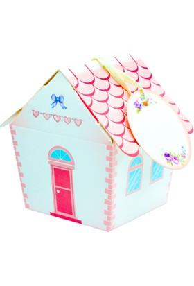 Mevlütleriniz İçin Ev Modelli Pembe Mevlüt Şekeri Kutusu - 25'li