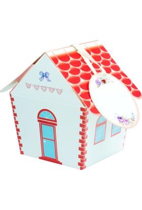 Mevlütleriniz İçin Ev Modelli Kırmızı Mevlüt Şekeri Kutusu - 25'li