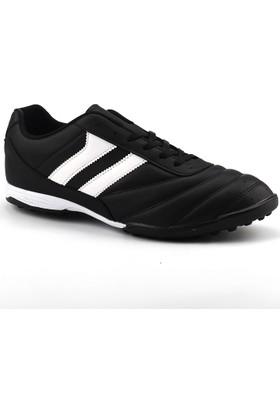 Ayakland Siyah Büyük Numara Halısaha Çim Erkek Futbol Ayakkabı