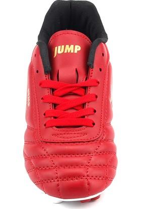 Jump Kırmızı Halısaha Krampon Erkek Çocuk Futbol Ayakkabı