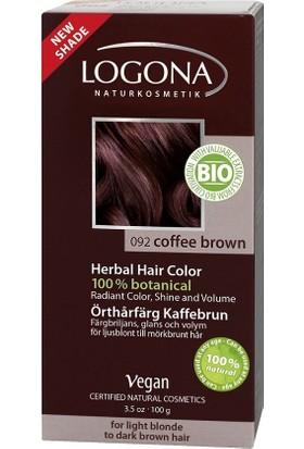 Logona Organik ve Doğal Toz Saç Boyası - Türk kahvesi - Kaffee braun