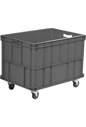 Osso 6943 Kapalı Ve Tekerlekli Plastik Kasa