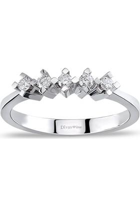 Divas Love 0,15 Karat Pırlanta 5 taş Yüzük
