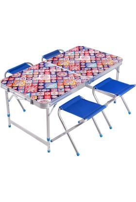 Jamboree Katlanır Pıknık Masası Ve Taburesi