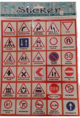 Defter Stickers Trafik Levhaları