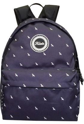 Fudela Outdoor Backpack Sırt Çantası Lacivert Kuşlar