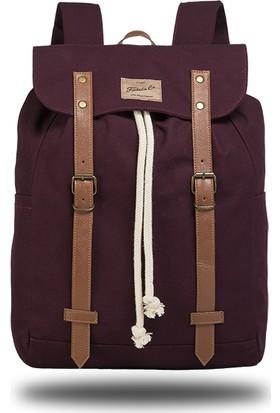 Fudela TKY Burgundy Backpack Sırt Çantası