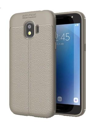 Ehr. Samsung Galaxy J4 Kılıf Deri Görünümlü Lux Niss TPU Kılıf