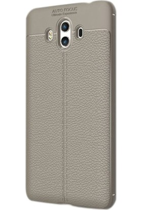 Ehr. Huawei Mate 10 Pro Darbeye Karşı Ultra Lüx Deri Silikon Niss Kılıf