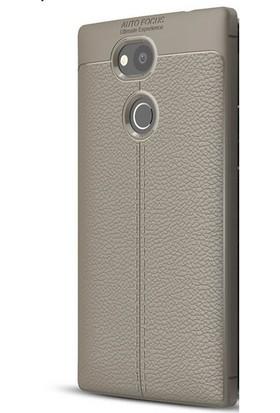 Ehr. Sony Xperia XA2 Ultra Darbeye Karşı Lüx Deri Silikon Kılıf