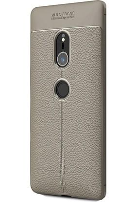 Ehr. Sony Xperia XZ2 Darbeye Karşı Ultra Lüx Deri Silikon Kılıf