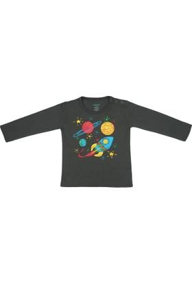 Popique Organics Galaxy Uzun Kollu Füme Organik T-Shirt