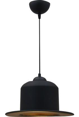 Bamyum Şapka Sarkıt Avize Siyah