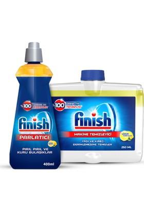 Finish Bulaşık Makine Temizleyici 250 ml Limon Ve Parlatıcı 400 ml Limon