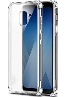 Ehr. Samsung J7 Duo Darbeye Karşı Lüx Anti Shock Silikon Kılıf + Ekran Koruyucu Cam