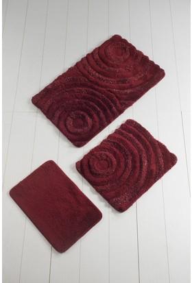 Chilai Home Akrilik Klozet Takımı 3`Lü Wave Kırmızı