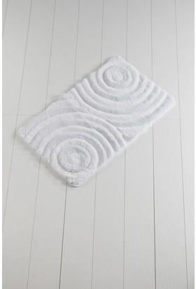 Chilai Home Wave Beyaz 60 x 100 Cm Banyo Halısı