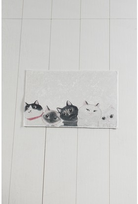 Chilai Home Angry Cats Djt 40 x 60 Cm Banyo Halısı