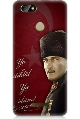Teknomeg Casper Via M4 Atatürk Ya İstiklal Ya Ölüm Desenli Silikon Kılıf