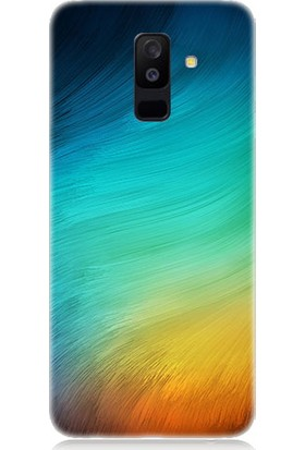 Teknomeg Samsung Galaxy A6 Plus Renk Esintisi Desenli Tasarım Silikon Kılıf