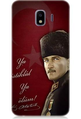 Teknomeg Samsung Galaxy J4 Duo Atatürk Ya İstiklal Ya Ölüm Desenli Silikon Kılıf