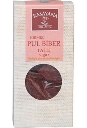 Rasayana Organik Kırmızı Pul Biber Tatlı 50 gr