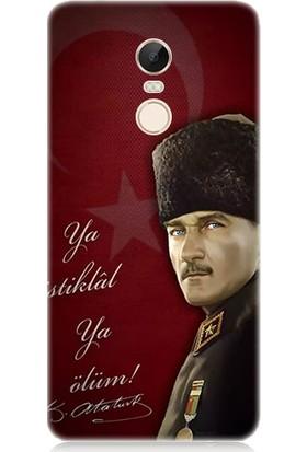 Teknomeg Xiaomi Redmi Note 4X Atatürk Ya İstiklal Ya Ölüm Desenli Silikon Kılıf