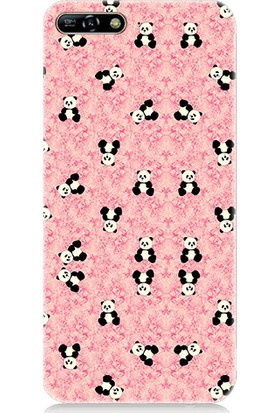 Teknomeg Huawei Y6 2018 Ufak Pandalar Desenli Silikon Kılıf