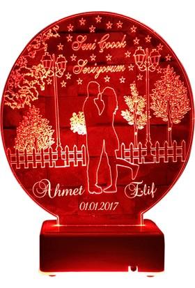 Vipyol Aşk Bahçesi Gece Lambası İsimli Sevgili Hediyesi İsimli Gece Lambası