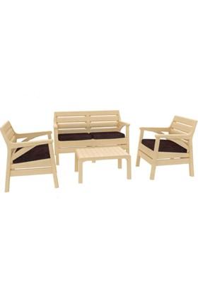 Holiday HK-800 Miami Set Bahçe Mobilyası - Balkon Seti- Capicino