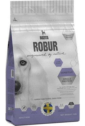Robur Sensitive Single Protein Kuzulu Köpek Maması 3 kg