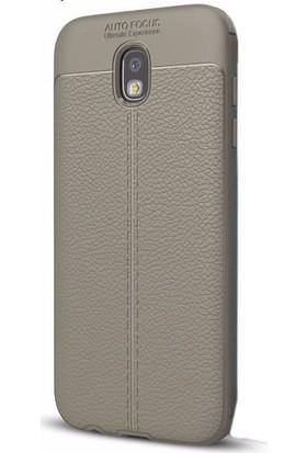 Ehr. Samsung J5 Pro Deri Görünümlü Lux Kılıf + Ekran Koruyucu Cam