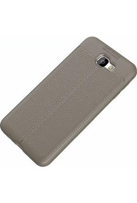 Ehr. Samsung J5 Prime Deri Görünümlü Lux Kılıf + Nano Cam