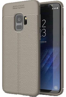 Ehr. Samsung A8 2018 Deri Görünümlü Lux Kılıf + Ekran Koruyucu Cam