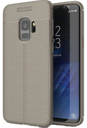 Ehr. Samsung A8 Plus 2018 Deri Görünümlü Lux Kılıf + Ekran Koruyucu Cam