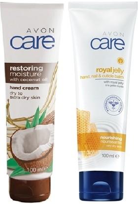 Avon Care Hindistan Cevizi Yağı İçeren El Kremi+ Care Arı Sütü İçeren El, Tırnak Ve Kütikül Balmı