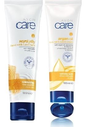 Avon Care Arı Sütü İçeren El, Tırnak Ve Kütikül Balmı+ Care Argan Yağı, Gliserin Ve E Vitamini İçeren El, Tırnak Ve Kütikül Kremi