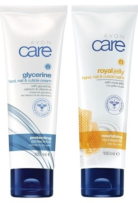 Avon Care Gliserin, Kalsiyum Ve E Vitamini İçeren El, Tırnak Ve Kütikül Kremi+ Care Arı Sütü İçeren El, Tırnak Ve Kütikül Balmı