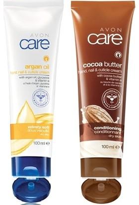 Avon Care Kakao Yağı Ve E Vitamini İçeren El, Tırnak Ve Kütikül Kremi+ Care Argan Yağı, Gliserin Ve E Vitamini İçeren El, Tırnak Ve Kütikül Kremi
