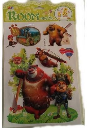 Room Dekor 5D Büyük Micky Mouse Figürlü Kabartmalı Duvar Stickers
