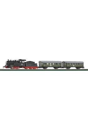 Piko 57110 1/87 Starter Set Steam Loco W Tender W Coach