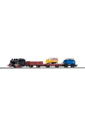 Piko 57111 1/87 Steam Loco W Freight Cars A-Track Set