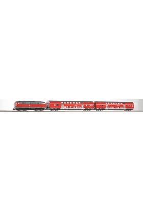 Piko 57150 1/87 Starter Set Br 218 Bi Level Train Db Re