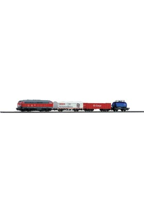 Piko 57151 1/87 Starter Set Diesel Loco W Freight Cars